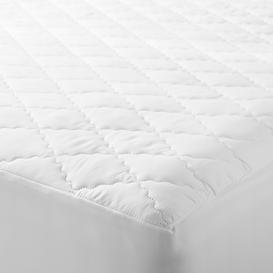 image-John Lewis & Partners Synthetic Soft Touch Washable Quilted Mattress Protector