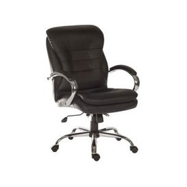 image-Colossal Light Leather Faced Executive Chair, Black
