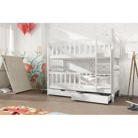 image-Truman Single (3') Bunk Bed with Drawers Isabelle & Max Colour (Bed Frame): White