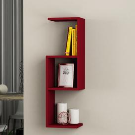 image-Wall Shelf Symple Stuff Finish: Burgundy