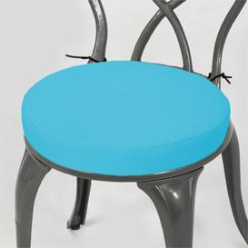 image-Dining Chair Cushion Dakota Fields Colour: Turquoise, Size: 4cm H x  33cm W x 33cm D