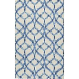 image-Stewart Blue/Ivory Indoor/Outdoor Rug Waverly Rug Size: Rectangle 305 x 396cm
