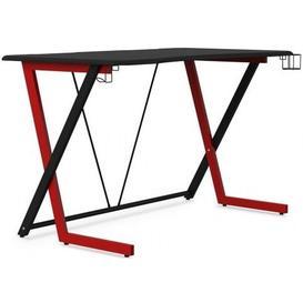 image-Alphason Phantom Black and Red Gaming Desk - AW9200