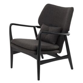 image-Peggy Padded armchair - / Fabric & wood by Pols Potten Black,Dark grey