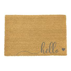 image-Artsy Doormats - Hello Door Mat - Grey