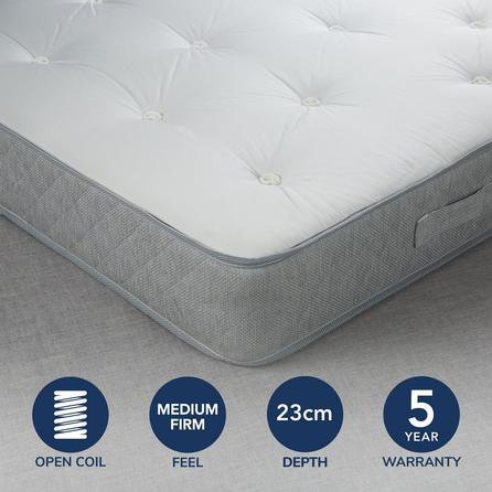image-Fogarty Traditional Open Coil Mattress White