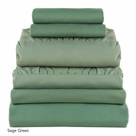 image-Apollinaire 180 Thread Count Reinforced Cotton Sheet Set Ebern Designs Colour: Dark Green