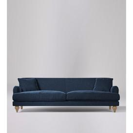 image-Swoon Chorley Three-Seater Sofa in Indigo Smart Wool With Short Light Feet