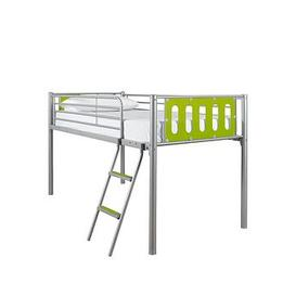 image-Cyber Mid-Sleeper Bed Frame With Mattress Options (Buy And Save!) - Bed Frame Only