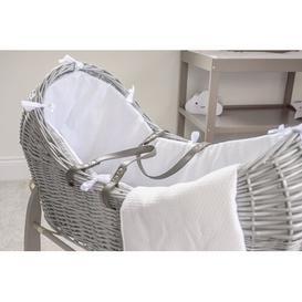 image-Moses Basket with Bedding Clair De Lune Colour: White