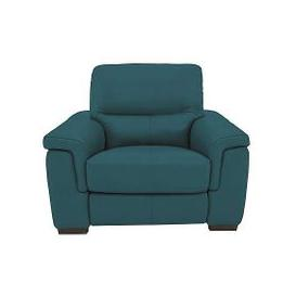 image-Aneto Leather Power Recliner Armchair - Blue- World of Leather