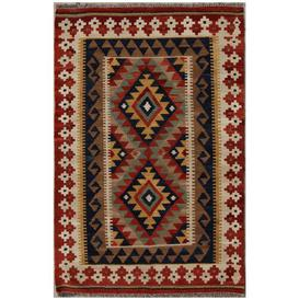 image-Cutts Traditional Handmade Kilim Wool Red Rug Bloomsbury Market
