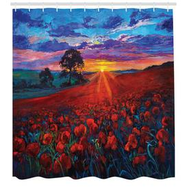 image-Sunset Shower Curtain East Urban Home Size: 200cm H x 175cm W