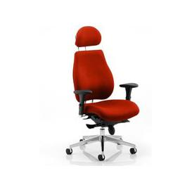 image-Chiro Plus Ultimate Headrest Office Chair In Tabasco Red