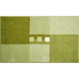 image-Merkur Bath Mat Linea Due by GRUND Size: 70 x 120cm, Colour: Green