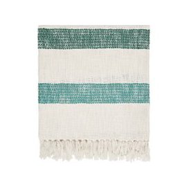 image-Joules Lost Garden Stripe Woven Throw, Multi