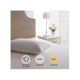 image-Dorma Luxurious White Goose Down Soft-Support Pillow White