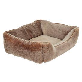 image-Faux Fur Dog Bed, Medium - Lynx