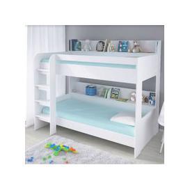 image-Creston Contemporary Bunk Bed In White
