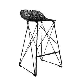 image-Carbon Outdoor High stool - Outdoor - Seat : H 66 cm by Moooi Black