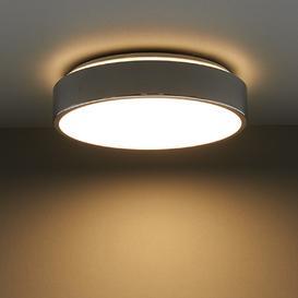 image-Modern Polished Chrome LED Bathroom Flush Ceiling Light IP44