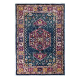 image-Urban Traditional Rug Pink, Blue and Yellow