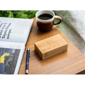 image-Modern Digital Wood Electric Alarm Tabletop Clock Symple Stuff Finish: Bamboo