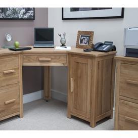 image-Opus Solid Oak Furniture Corner Desk & Filing Cabinet Set - PRE ORDER