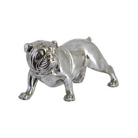 image-Hill Winston The Bulldog Antique Silver Ornament
