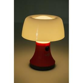 image-6.49'' Battery Powered Integrated LED Outdoor Table Lamp Bo-Camp Colour: Red