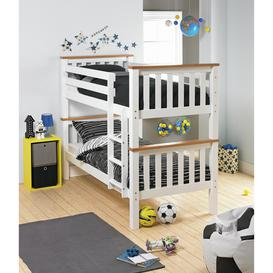 image-Argos Home Heavy Duty Bunk Bed Frame - White and Pine