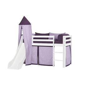 image-Basic Beautiful Bloom Mid Sleeper Bed with Textile Set Hoppekids Bed surface area: 70cm x 160cm