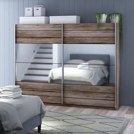image-2 Door Sliding Wardrobe Brayden Studio Size: 210cm H x 270cm W x 61cm D