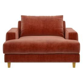 image-Wiltons Oranges Velvet Armchair, Orange