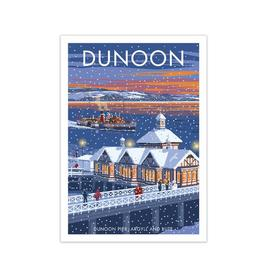 image-'Scotland Dunoon Christmas' Graphict Art by Stephen Millership East Urban Home Size: 59.4 cm H x 42 cm W x 1 cm D, Frame Options: No Frame