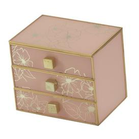 image-Floral Glass Jewellery Box