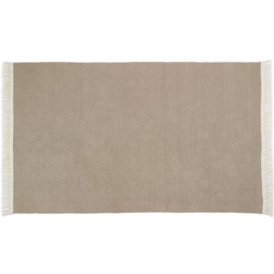image-Rustic Plain Rug 80 x 150cm, Brown
