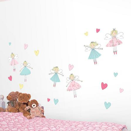 image-Fairies Wall Stickers White / Pink