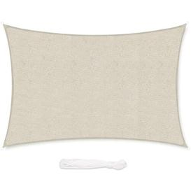 image-Cliona Rectangular Shade Sail Sol 72 Outdoor Colour: Taupe, Size: 400cm W x 300cm D