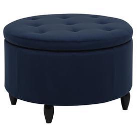 image-Jeanie Storage Ottoman Brayden Studio Upholstery Colour: Navy