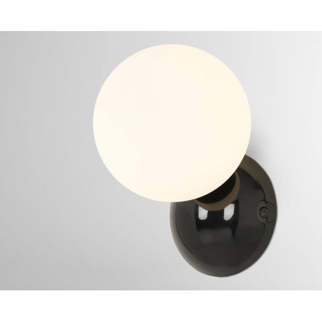 image-Vetro Bathroom Wall Light, Black