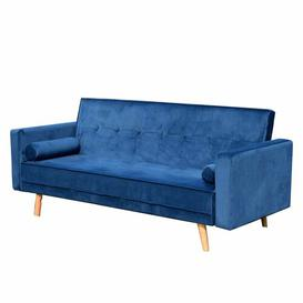 image-Mccarty 3 Seater Futon Sofa Mercury Row Upholstery Colour: Dark Blue