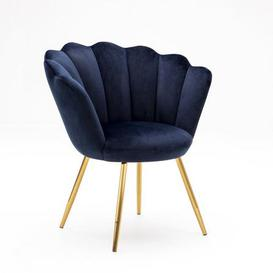 image-Vivian Velvet Cocktail Chair - Ink Blue