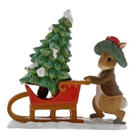 image-Benjamin Bunny Preparing for Christmas Figurine Beatrix Potter