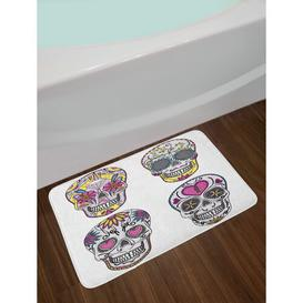 image-Garmund Rectangle Bath Mat Happy Larry