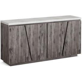 image-Corndell Austin Sideboard - Faux Concrete and Acacia