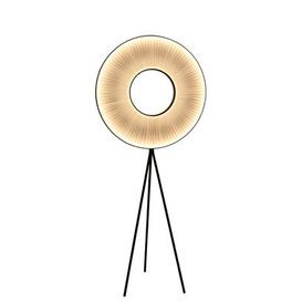 image-Iris Floor lamp - H 165 cm - LED - Fabric - Two-sided lighting by Dix Heures Dix White,Black