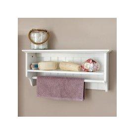 image-Colonial White Towel Rail Shelf