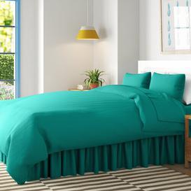 image-180 Thread Count Valance Wayfair Basics Size: Double (4'6), Colour: Blue