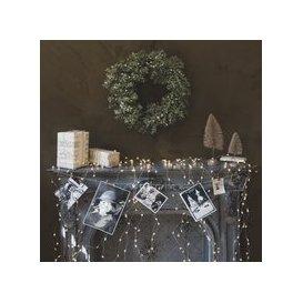 image-Silver Glitter Leaf Wreath